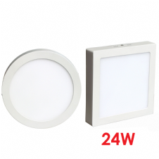 Surface Mounted LED Panel Light 24W Round and Square